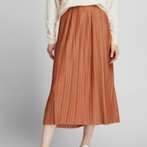 Uniqlo Pleated Jersey Long Skirt